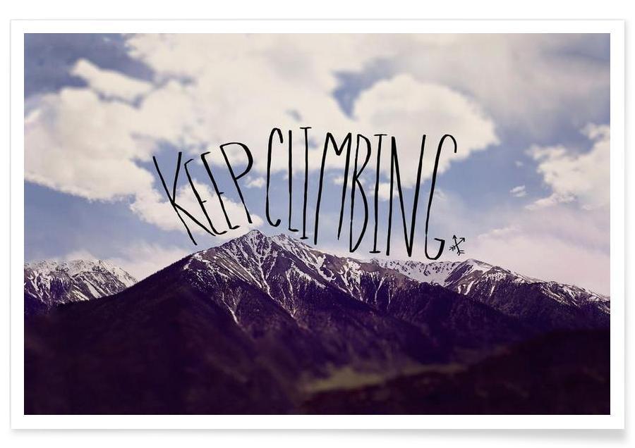 Motivation, Citations et slogans, Keep climbing affiche