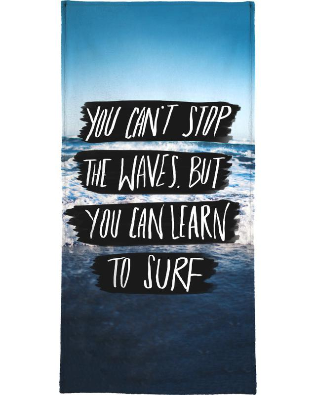Learn to Surf Beach Towel