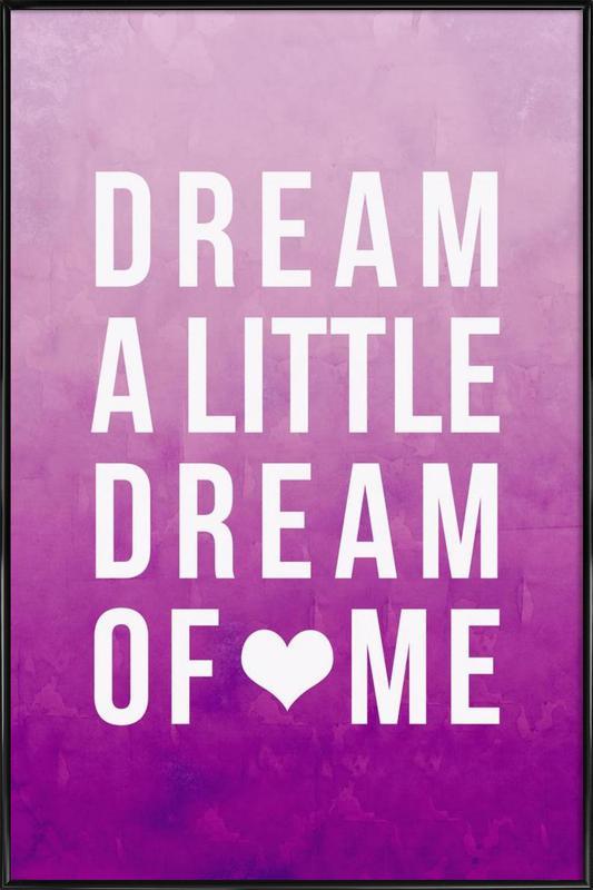 Dream Pink ingelijste poster