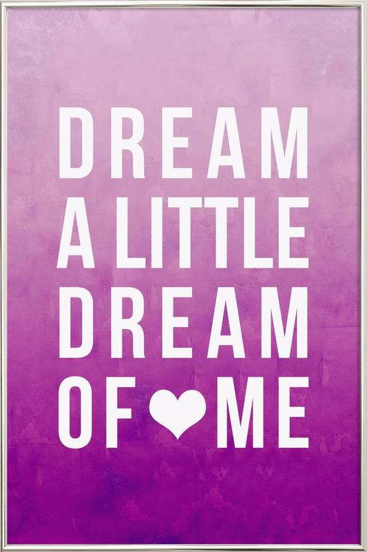 Dream Pink poster in aluminium lijst
