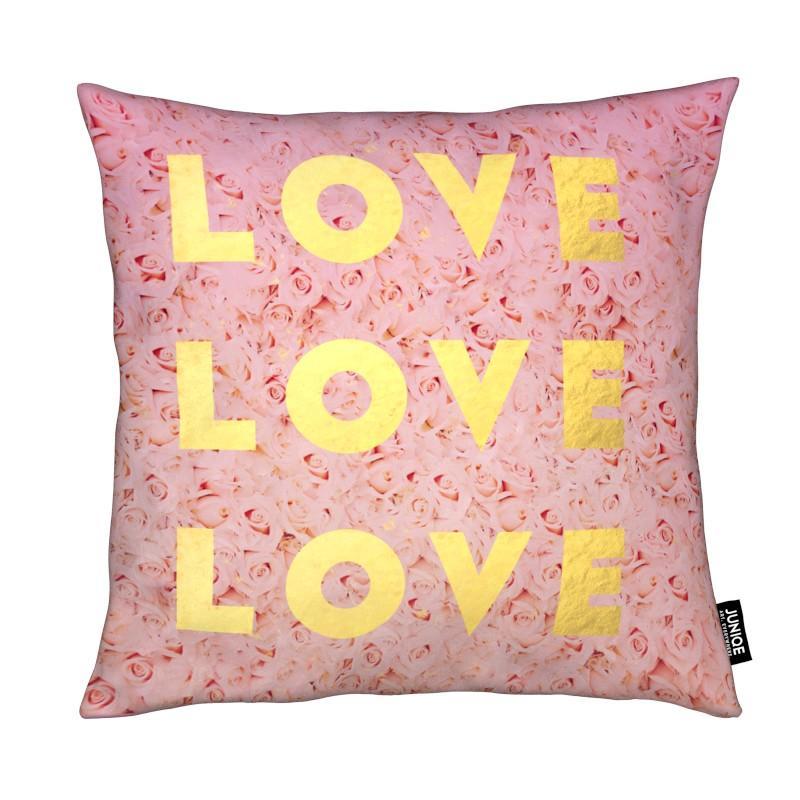 Citations d'amour, Citations et slogans, Love & Roses coussin