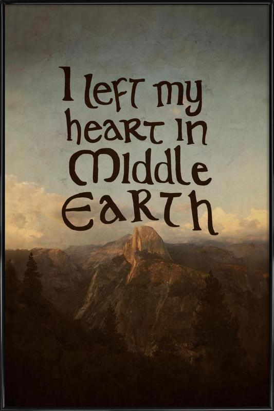 Middle Earth affiche encadrée