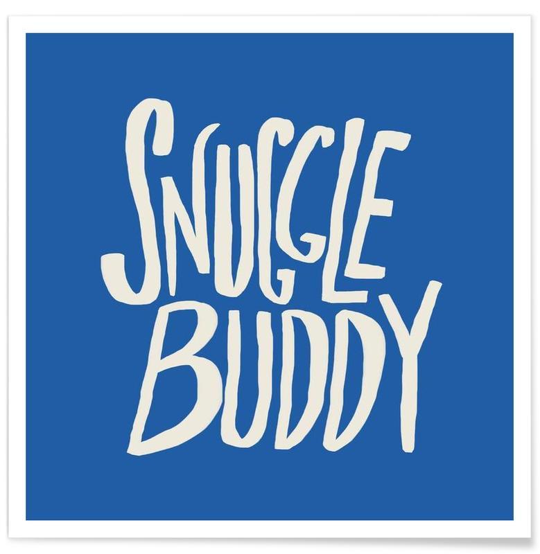 , Snuggle Buddy - Blue affiche