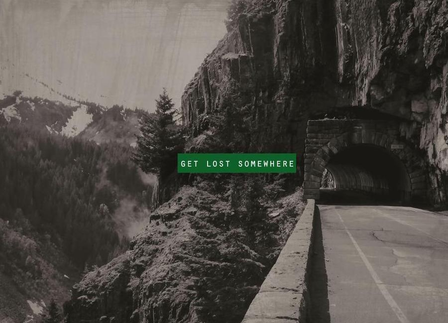 Get Lost Somewhere -Leinwandbild