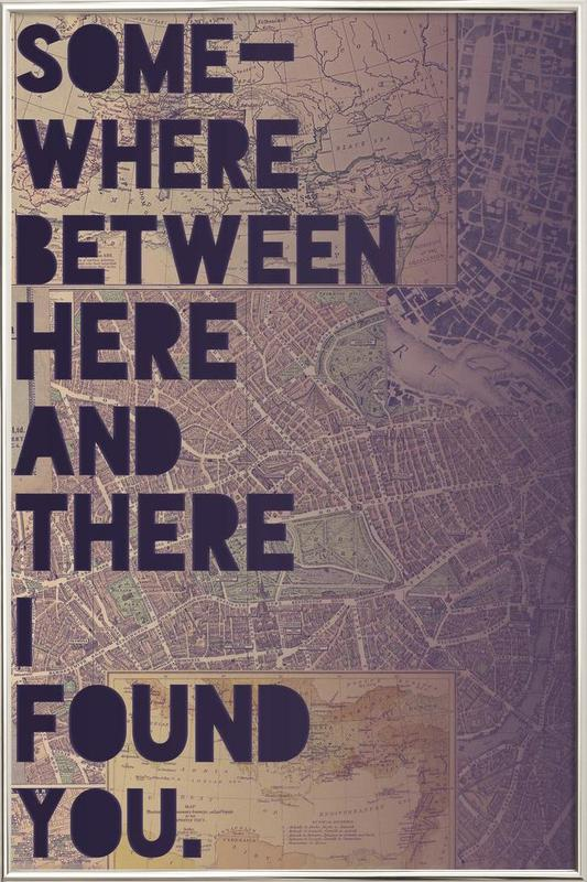 Here and There poster in aluminium lijst