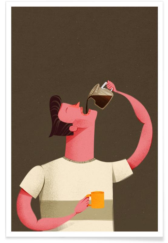 Coffee, Coffee Drinker Poster