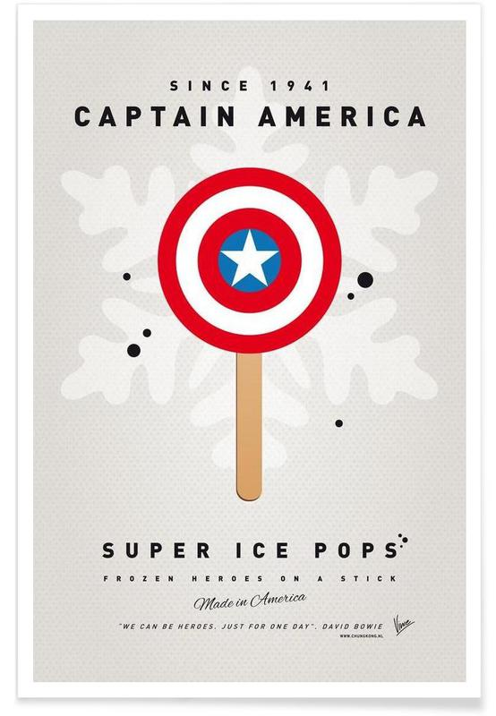 My Superhero Ice Pop - Captain America affiche