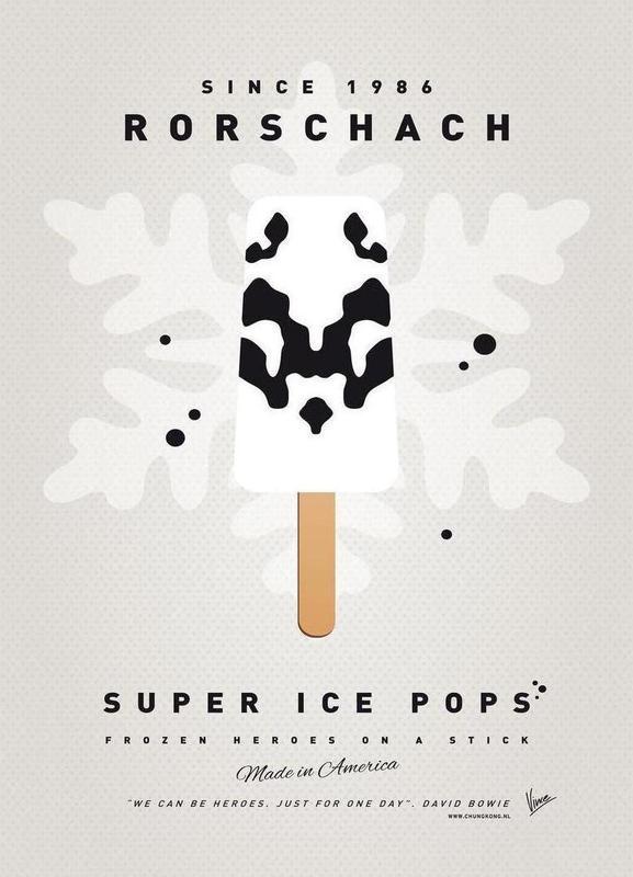 My Superhero Ice Pop - Rorschach -Leinwandbild