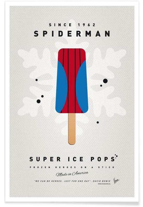 Ice Cream, Spider-Man, My Superhero Ice Pop - Spiderman Poster
