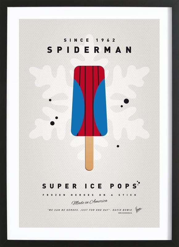 My Superhero Ice Pop - Spiderman Framed Print