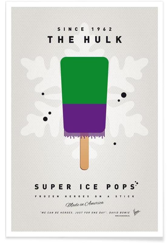 My Superhero Ice Pop - The Hulk Poster
