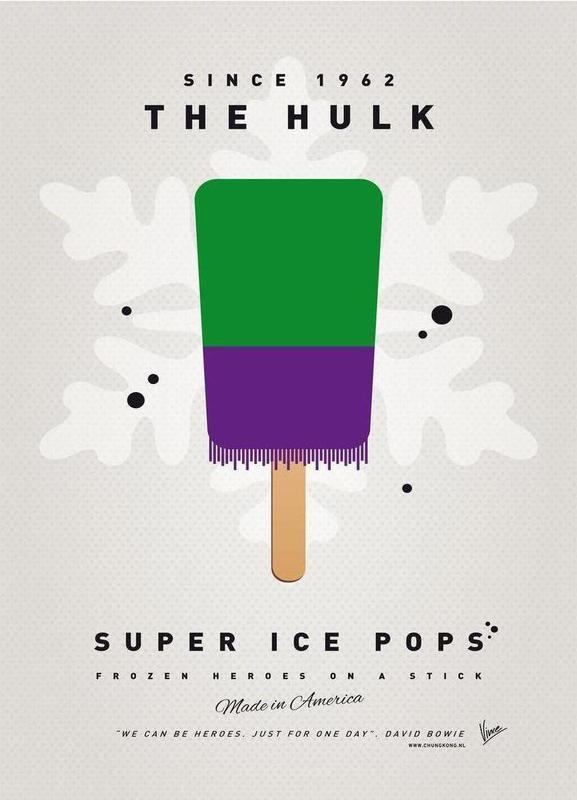 My Superhero Ice Pop - The Hulk Canvas Print