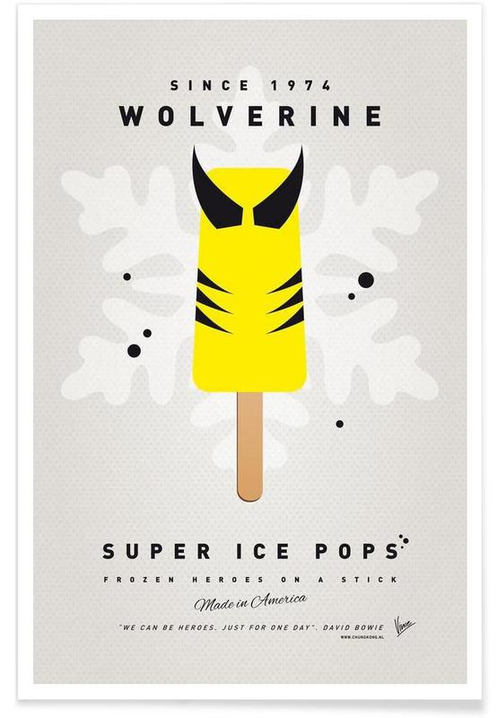 My Superhero Ice Pop - Wolverine -Poster