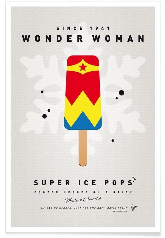 Glaces, My Superhero Ice Pop - Wonder Woman affiche