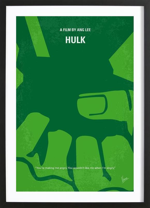 Hulk affiche sous cadre en bois