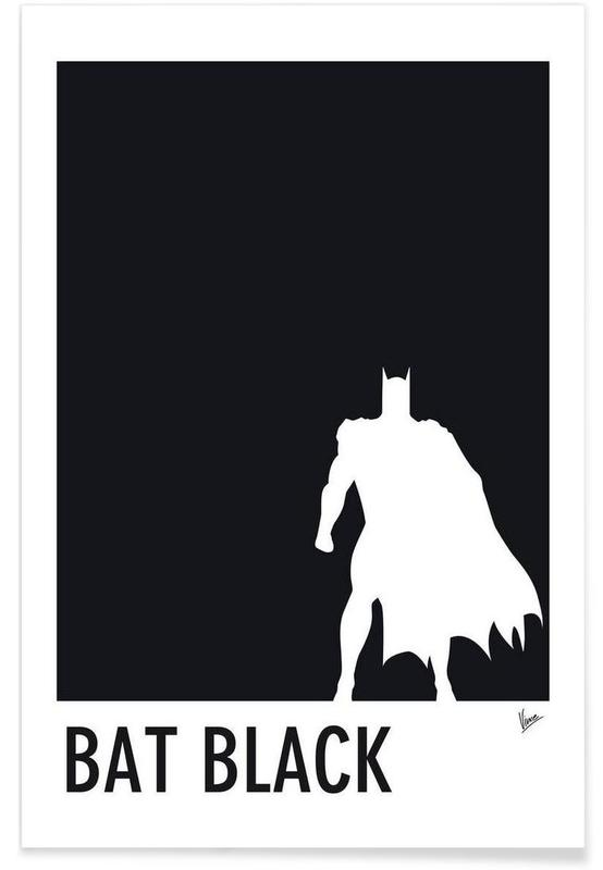 My Superhero 02 Bat Black Minimal Poster -Poster