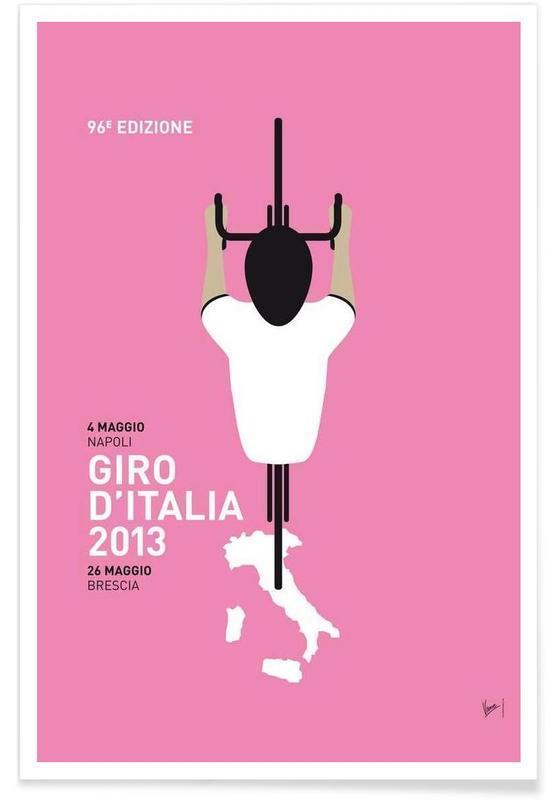Cycling, MY GIRO D'ITALIA MINIMAL POSTER 2013 Poster