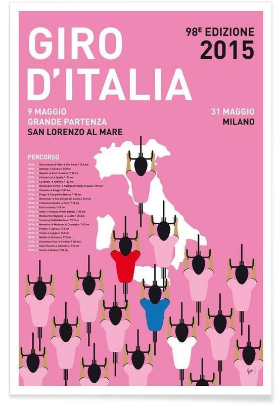 Radfahren, MY GIRO D'ITALIA MINIMAL POSTER 2015 -Poster