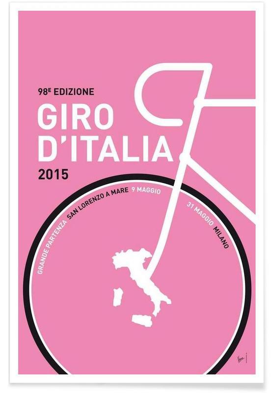 Wielersport, MY GIRO D'ITALIA MINIMAL POSTER 2015 - 2 poster