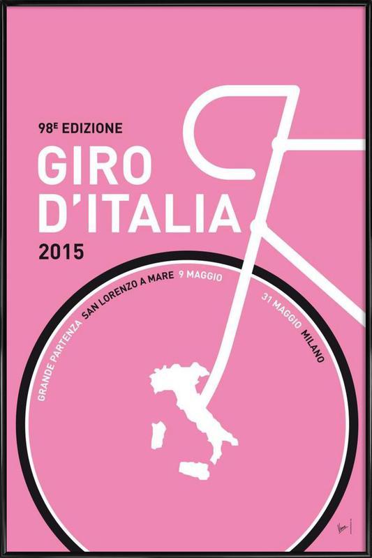 MY GIRO D'ITALIA MINIMAL POSTER 2015 - 2 ingelijste poster