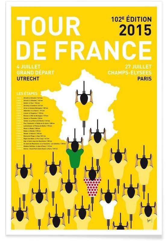 Cyclisme, MY TOUR DE FRANCE MINIMAL POSTER 2015 affiche