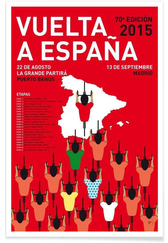 Wielersport, MY VUELTA A ESPANA MINIMAL POSTER 2015 poster