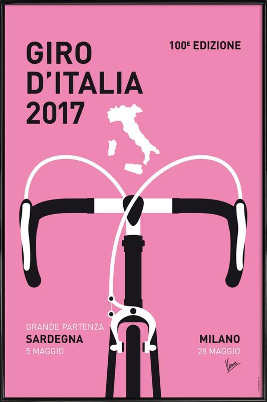 Giro d'Italia 2017 ingelijste poster
