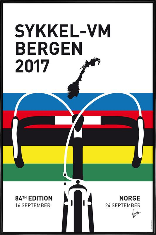 Road World Championship 2017 Framed Poster