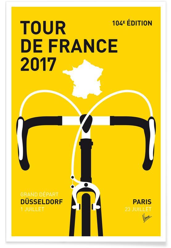 Cycling, Tour de France 2017 Poster