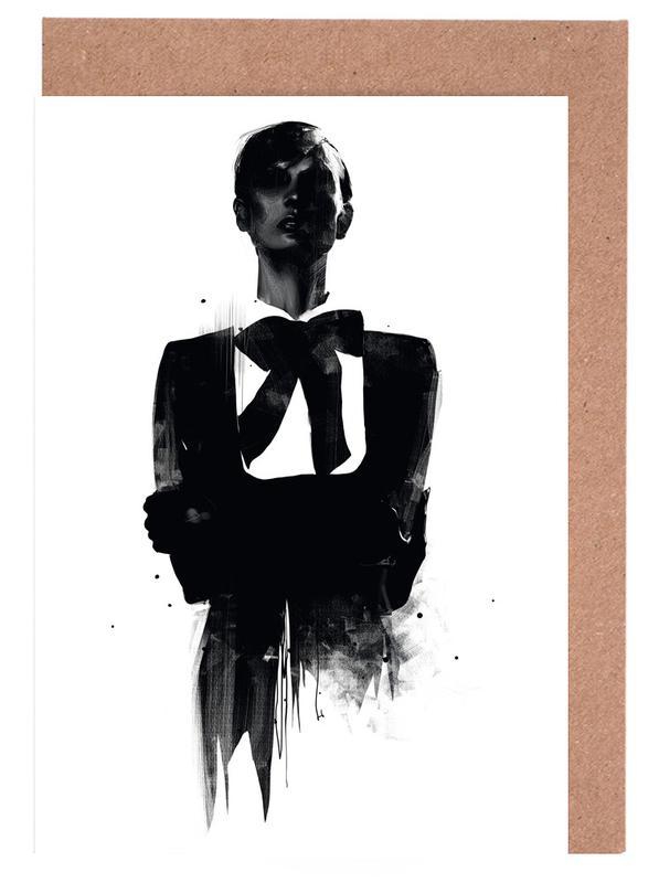 Noir & blanc, Illustrations de mode, Don't want to be remembered cartes de vœux