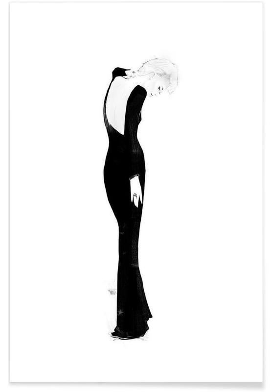 Noir & blanc, Illustrations de mode, Milou affiche