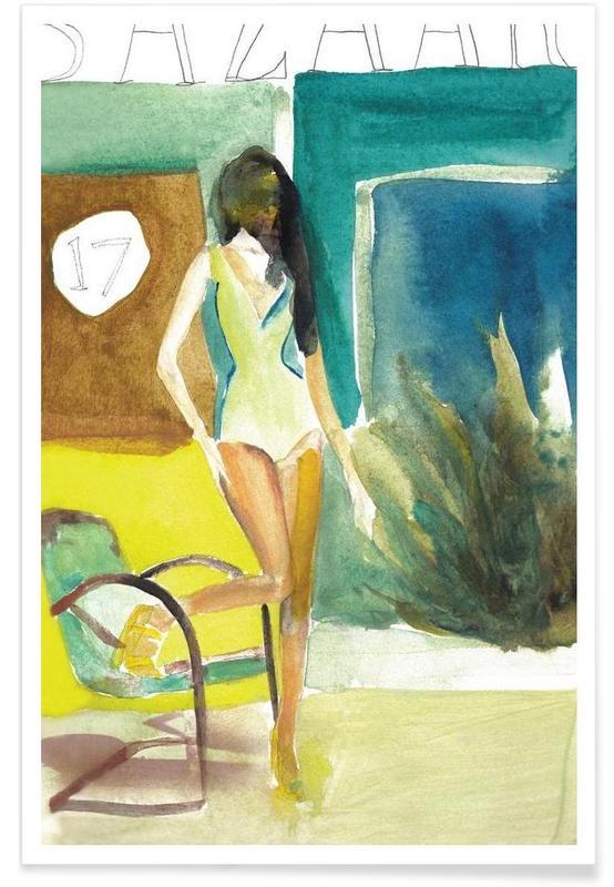 Fashion Illustrations, 17 Bazaar Poster
