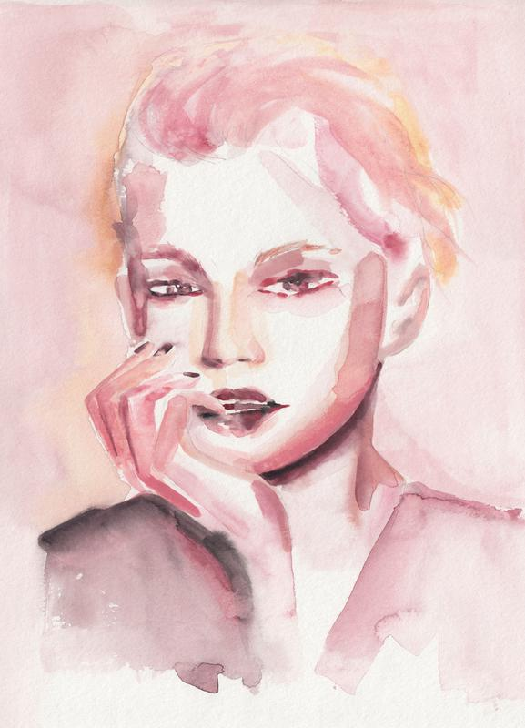 Through Rosey Lenses canvas doek