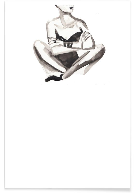 Black & White, Fashion Illustrations, Cash Highway Queen Poster