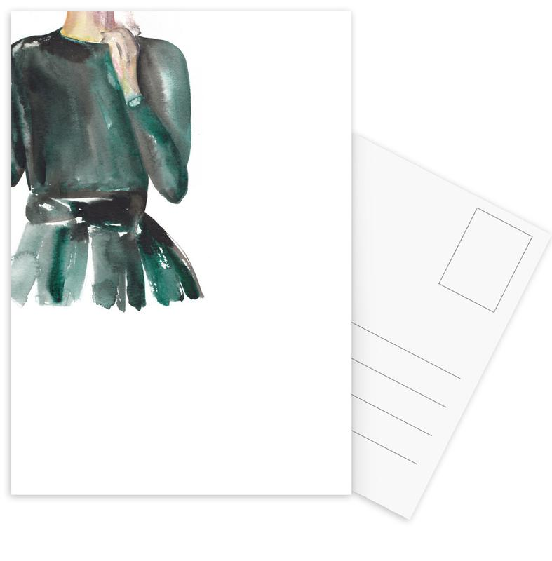 Modeillustration, I'm Here for the Party -Postkartenset