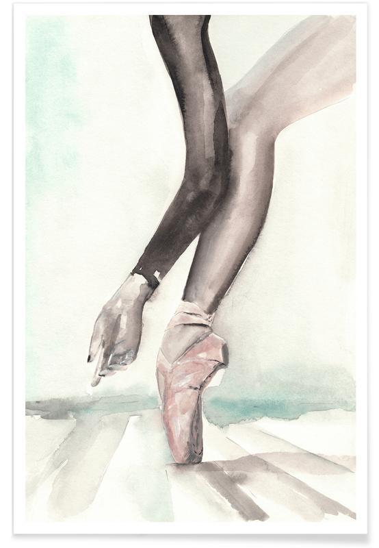 Dance, Fashion Illustrations, In Black Papillon Poster
