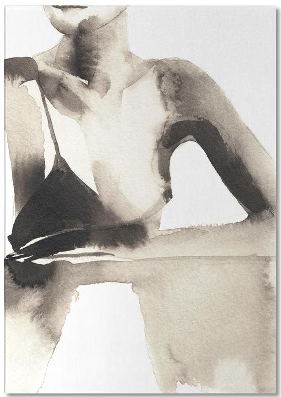 Zwart en wit, Mode-illustratie, Tapping the Magic notitieblok
