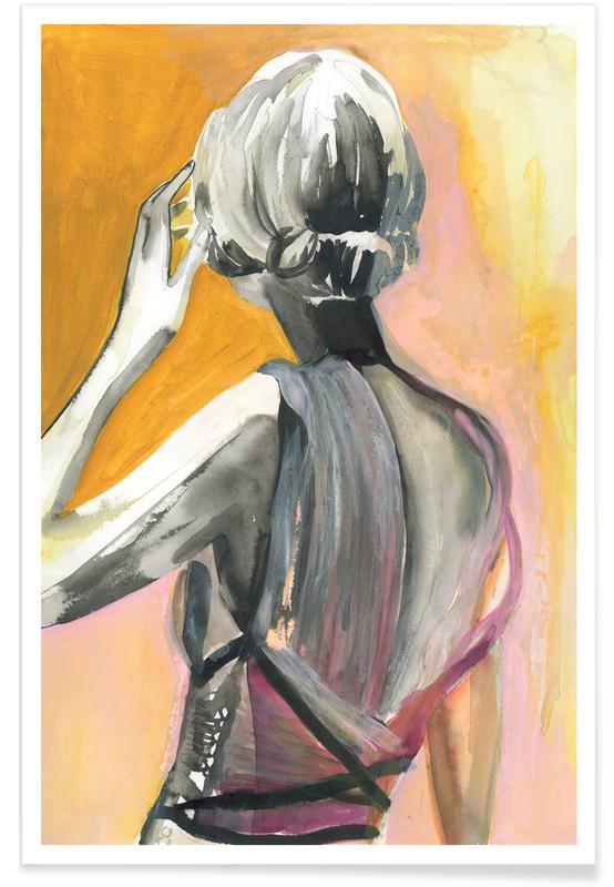 Mode illustrationer, Give Her Just A Second Plakat