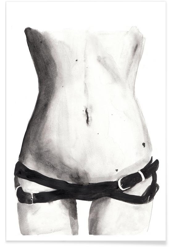 Détails corporels, Noir & blanc, Nus, Tuesday with Kate affiche