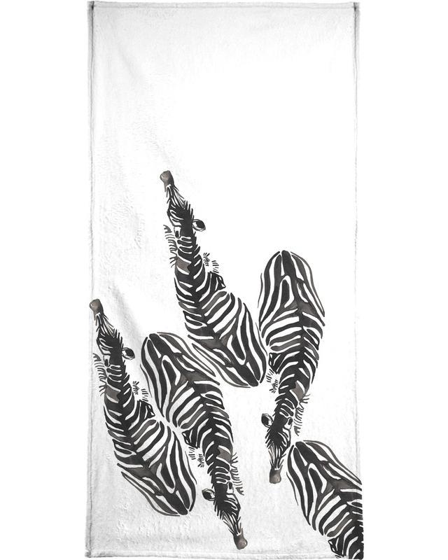 Black & White, Zebras, Zebra Beach Towel
