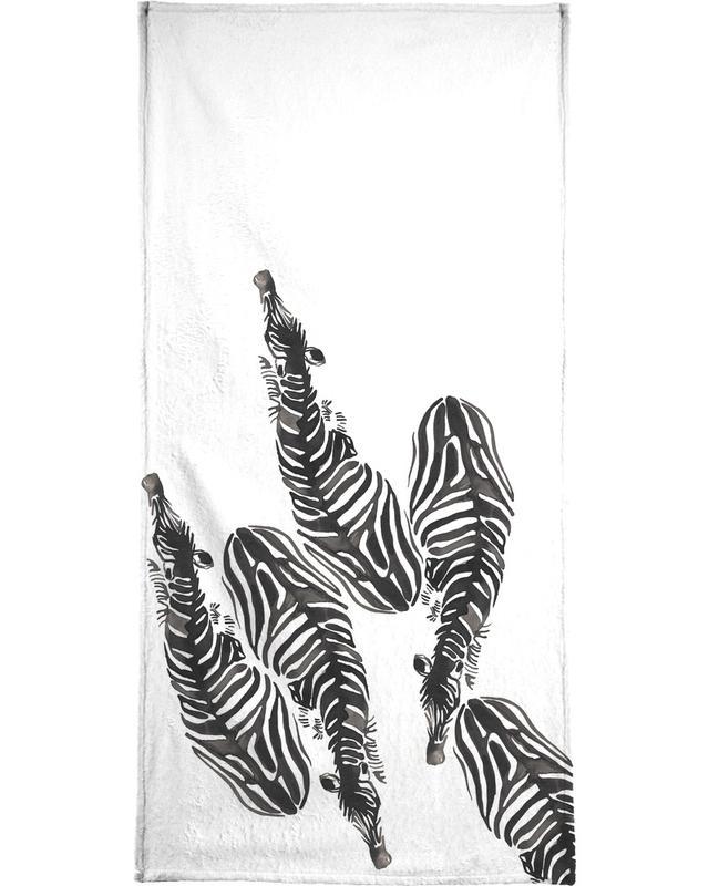 Noir & blanc, Zèbres, Zebra serviette de bain