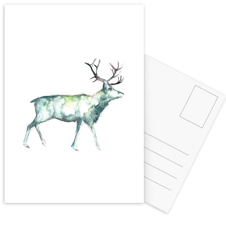 Hirsche, Reindeer 1 -Postkartenset