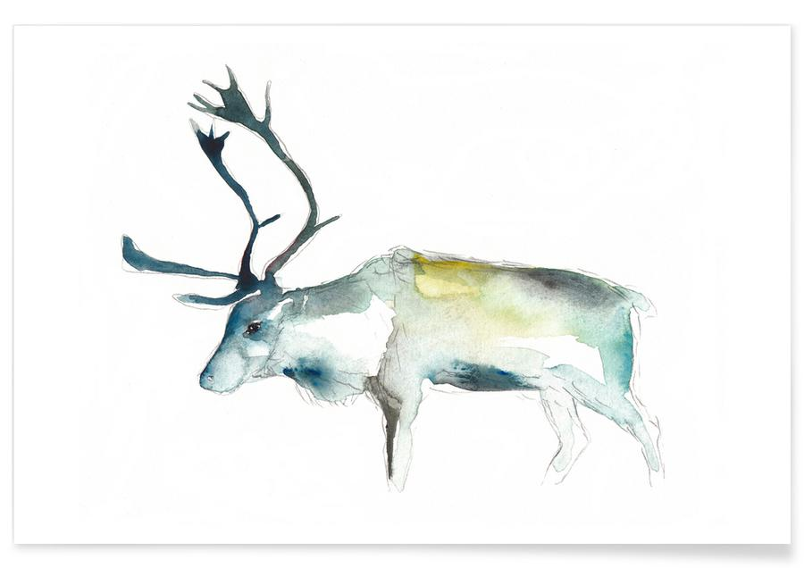 Deer, Reindeer 2 Poster