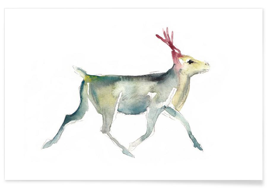 Reindeer 4 poster