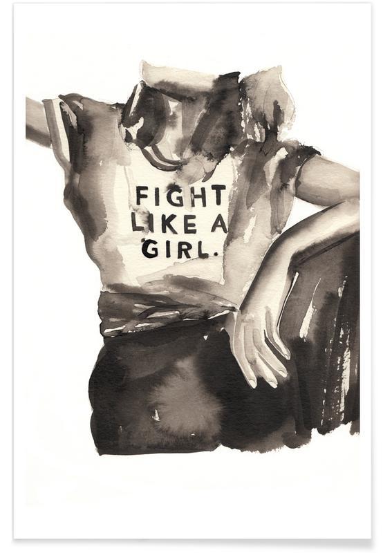 Sort & hvidt, Mode illustrationer, First Rule Plakat