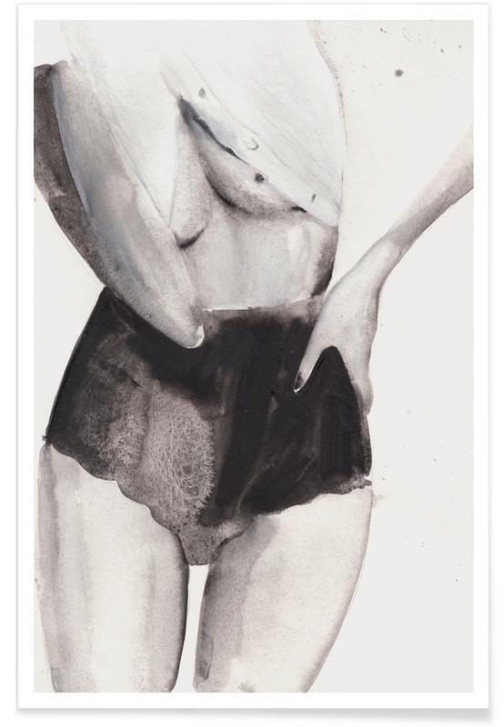 Sort & hvidt, Nøgen, Dance with Me Plakat