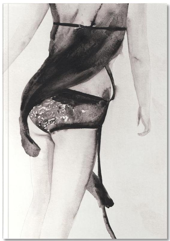 Black & White, Fashion Illustrations, Treat Day Notebook