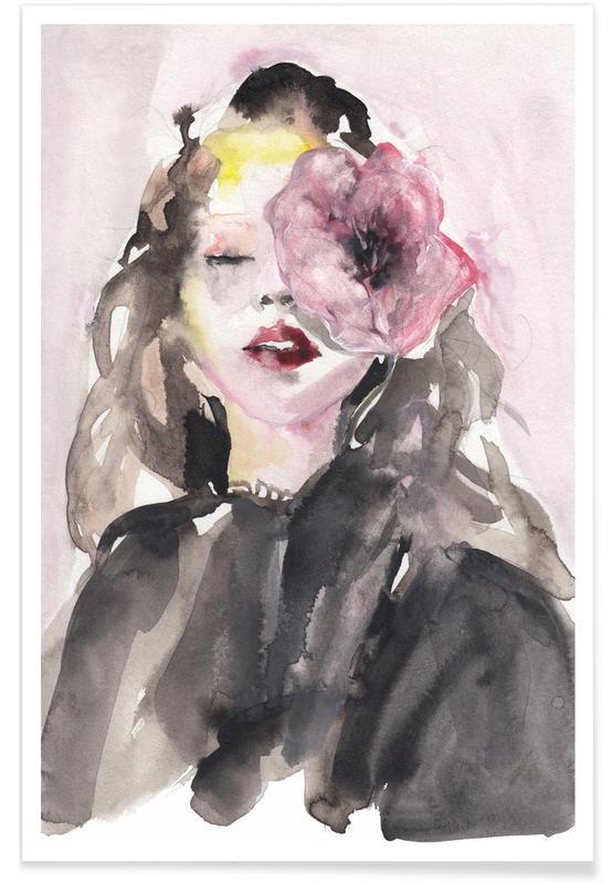 Mode illustrationer, Portrætter, Face Like a Melody Plakat