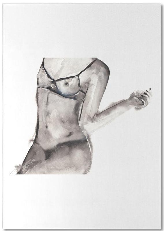 Body Close-Ups, Black & White, Nude, Flagged Notepad