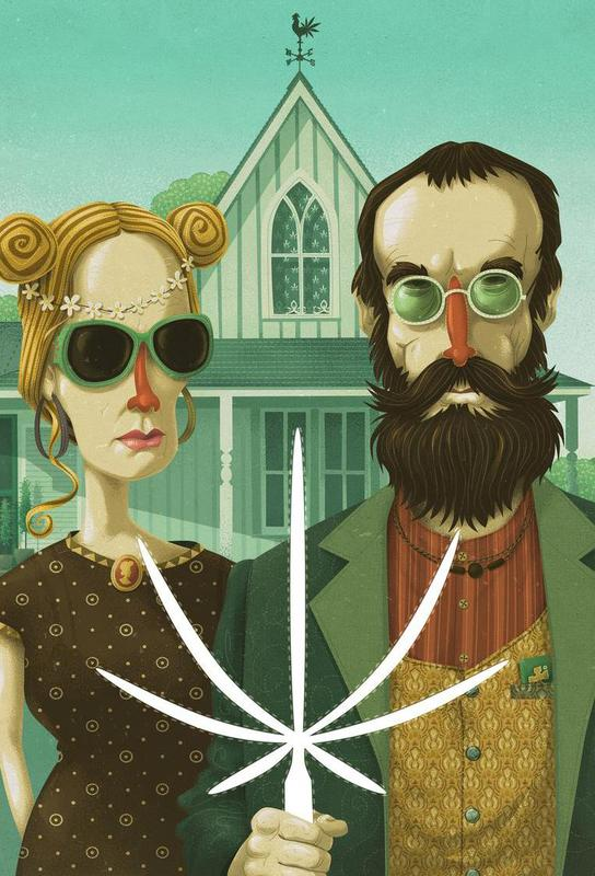 American Gothic High -Acrylglasbild